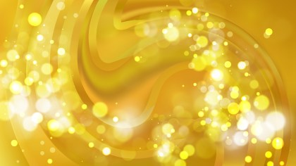 Abstract Gold Defocused Lights Background Image