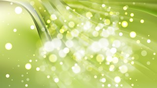 Abstract Green Lights Background Design