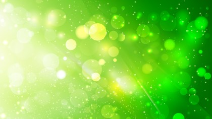Abstract Green Blurred Bokeh Background Design