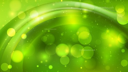 Abstract Green Blurry Lights Background Design