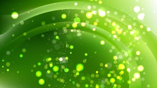 Abstract Green Bokeh Defocused Lights Background Design