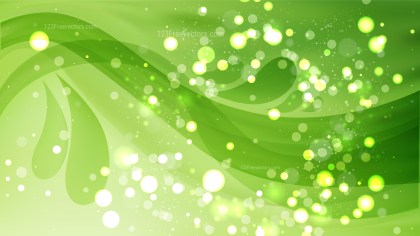 Abstract Green Defocused Background