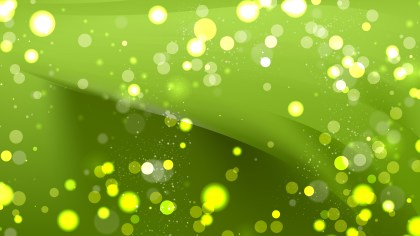 Abstract Green Bokeh Lights Background Vector