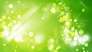 Abstract Green Defocused Lights Background Vector