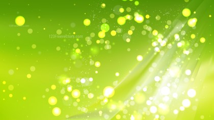 Abstract Green Blurred Lights Background Vector