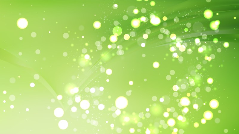 Abstract Green Bokeh Background Image