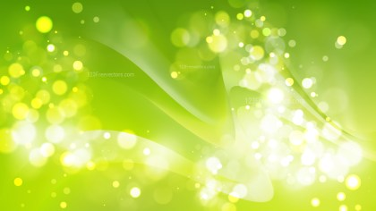 Abstract Green Blurred Bokeh Background Image