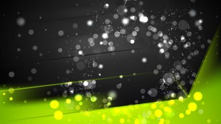 Abstract Green and Black Blurred Lights Background Image