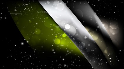 Abstract Green and Black Blur Lights Background Image