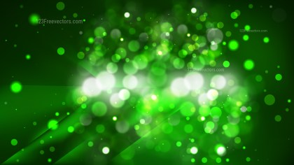 Abstract Green and Black Blurred Bokeh Background Image
