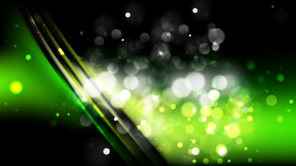 Abstract Green and Black Bokeh Lights Background Design