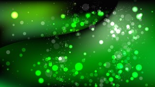Abstract Green and Black Defocused Lights Background