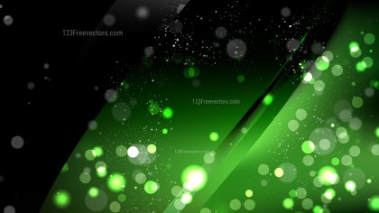 Abstract Green and Black Bokeh Lights Background Vector