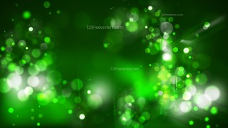 Abstract Green and Black Bokeh Background Vector