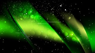Abstract Green and Black Blurry Lights Background Vector