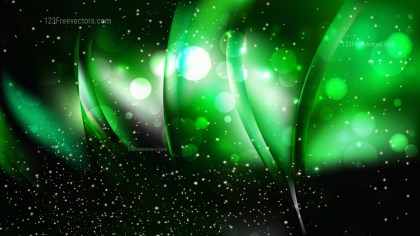 Abstract Green and Black Blurred Bokeh Background Vector