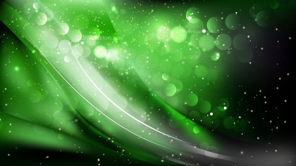 Abstract Green and Black Blurry Lights Background Image