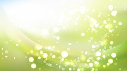 Abstract Green and White Defocused Lights Background Image