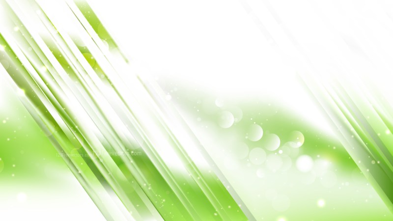 Abstract Green and White Bokeh Defocused Lights Background Image