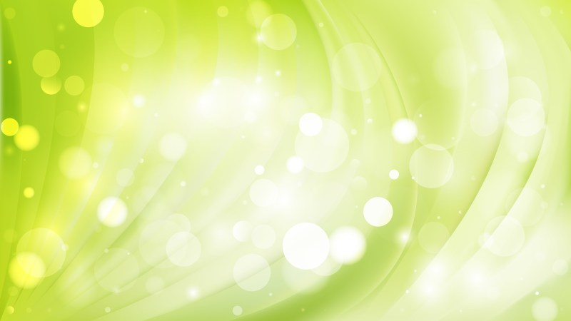 Abstract Green and White Defocused Lights Background Design