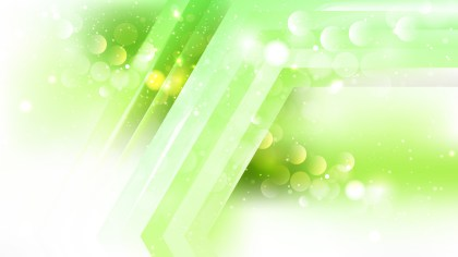 Abstract Green and White Lights Background Design