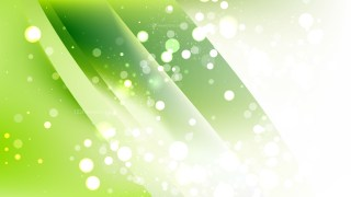 Abstract Green and White Bokeh Defocused Lights Background Design