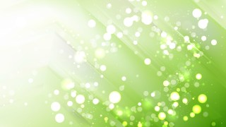 Abstract Green and White Bokeh Lights Background