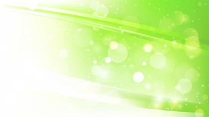 Abstract Green and White Lights Background