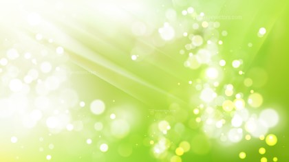 Abstract Green and White Blur Lights Background Vector