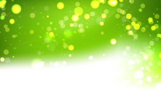 Abstract Green and White Lights Background Vector