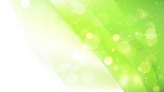Abstract Green and White Blurred Bokeh Background Vector