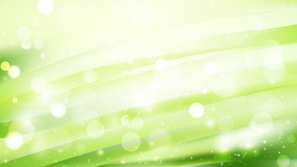 Abstract Green and White Bokeh Background Image