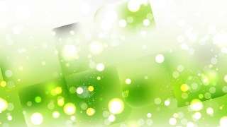Abstract Green and White Bokeh Lights Background Image