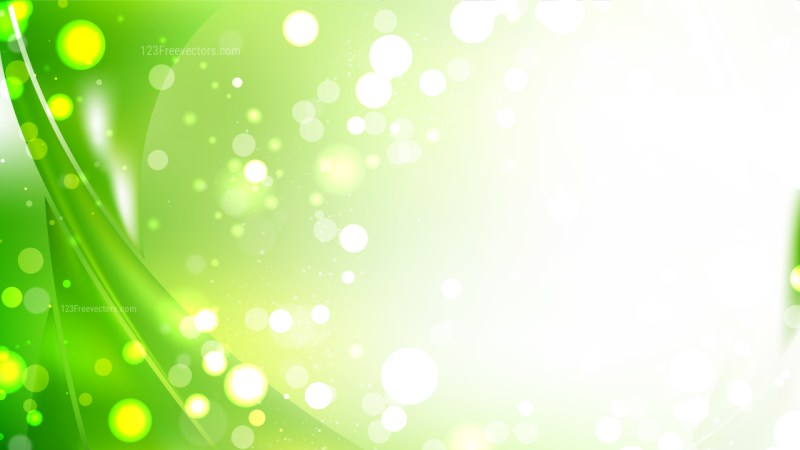 Abstract Green and White Blur Lights Background Image