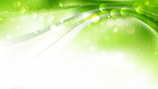 Abstract Green and White Blurry Lights Background Image