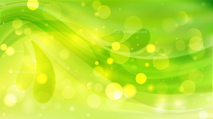 Abstract Green and Yellow Blurred Bokeh Background Image