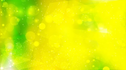 Abstract Green and Yellow Bokeh Lights Background Design