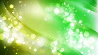 Abstract Green and Yellow Blur Lights Background Design