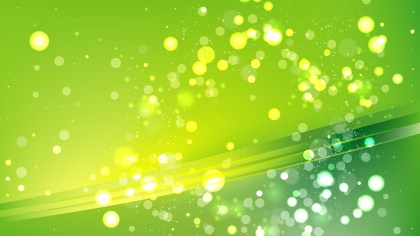 Abstract Green and Yellow Blurry Lights Background Design