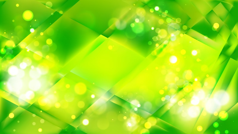 Abstract Green and Yellow Bokeh Defocused Lights Background Design