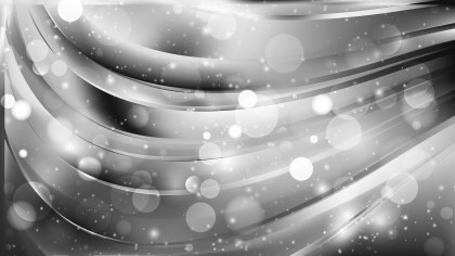 Abstract Grey Blurred Bokeh Background Vector
