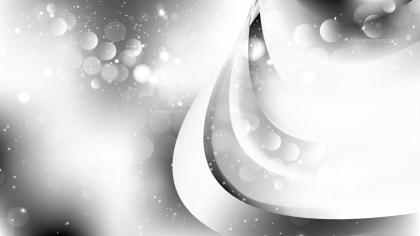 Abstract Grey and White Bokeh Background Design
