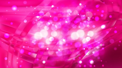 Abstract Hot Pink Bokeh Lights Background