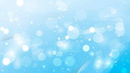 Abstract Light Blue Blurred Lights Background Vector