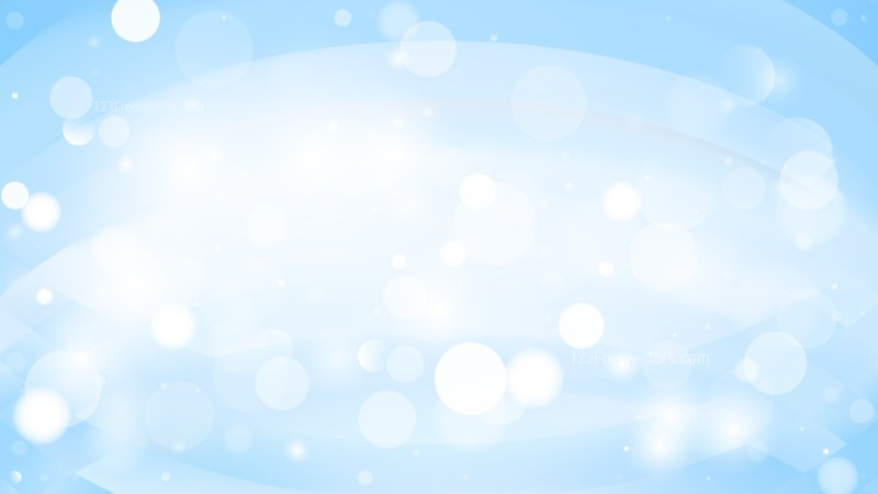Abstract Light Blue Bokeh Lights Background Vector