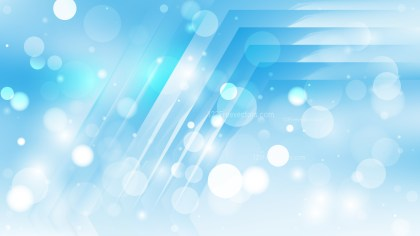 Abstract Light Blue Blur Lights Background Vector