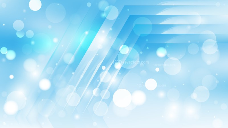 Abstract Light Blue Blur Lights Background Vector