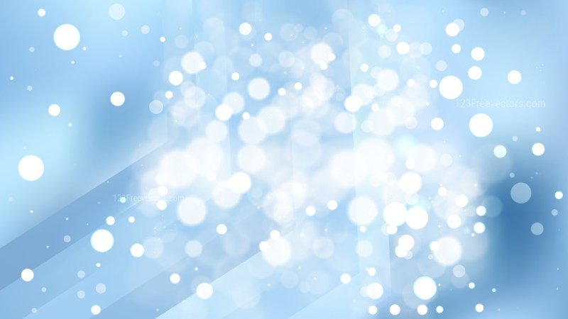 Abstract Light Blue Bokeh Lights Background Image