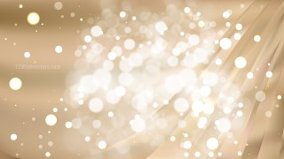 Abstract Light Brown Bokeh Defocused Lights Background Design