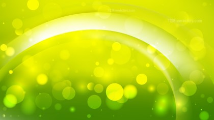 Abstract Lime Green Bokeh Defocused Lights Background
